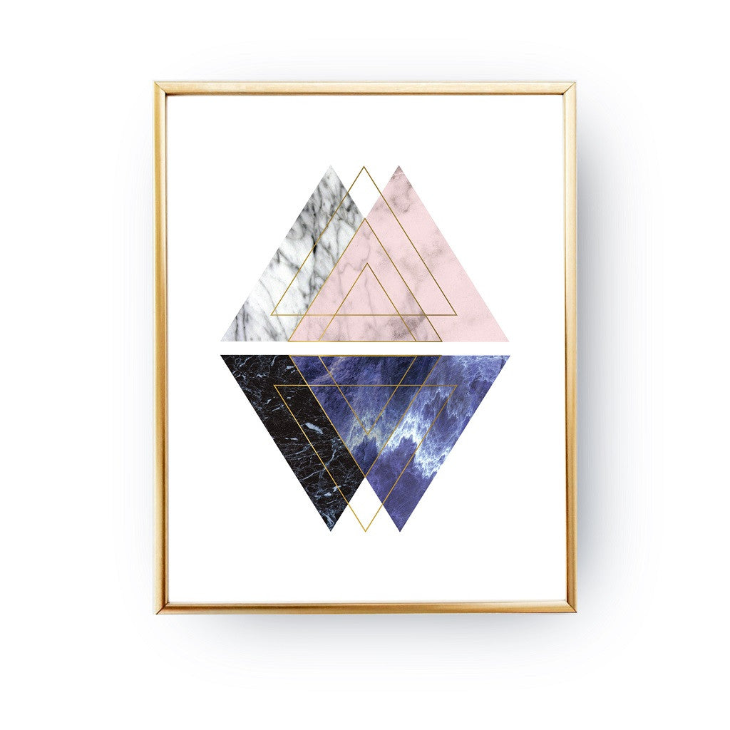 Nordic marble triangles, Poster