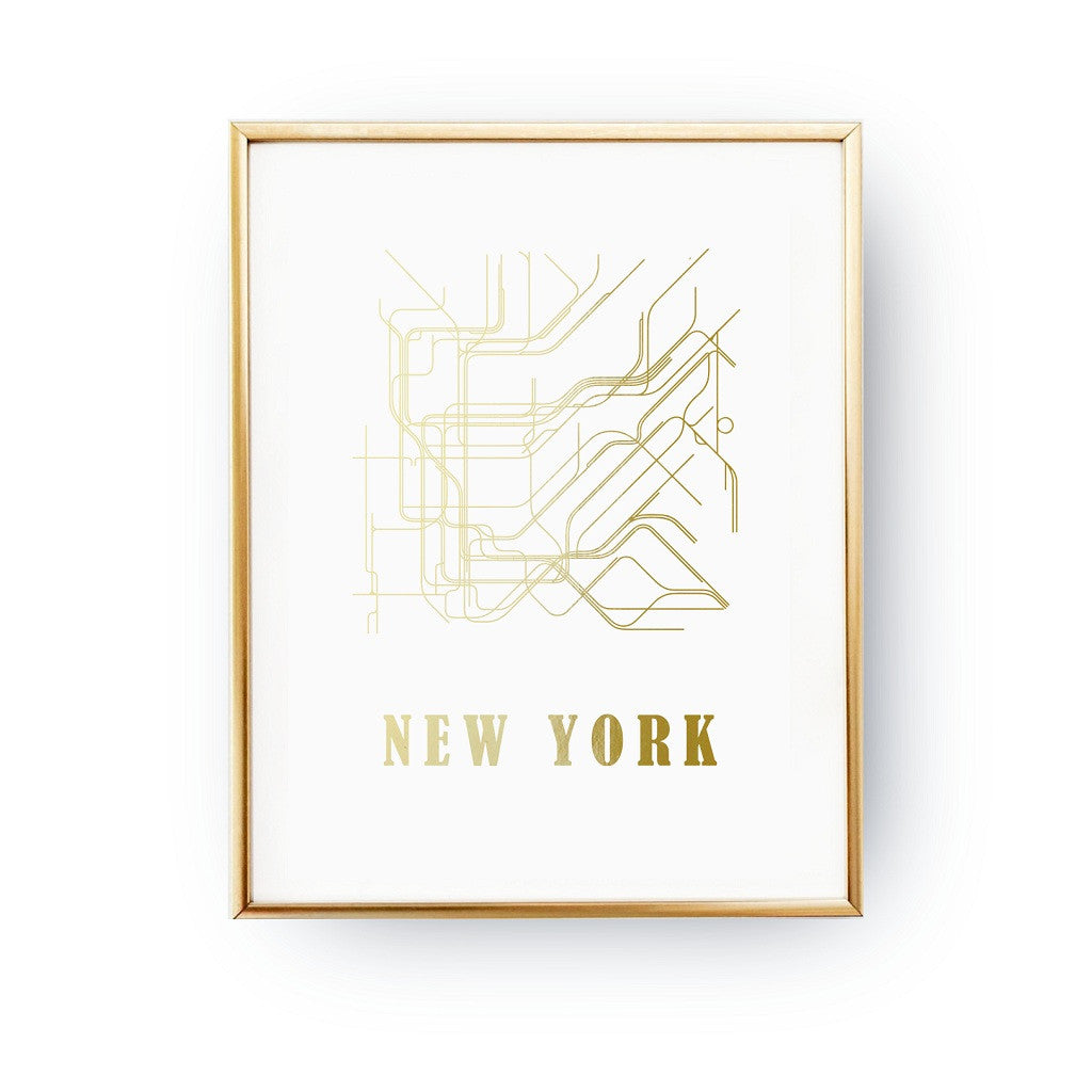 New York metro map, Poster