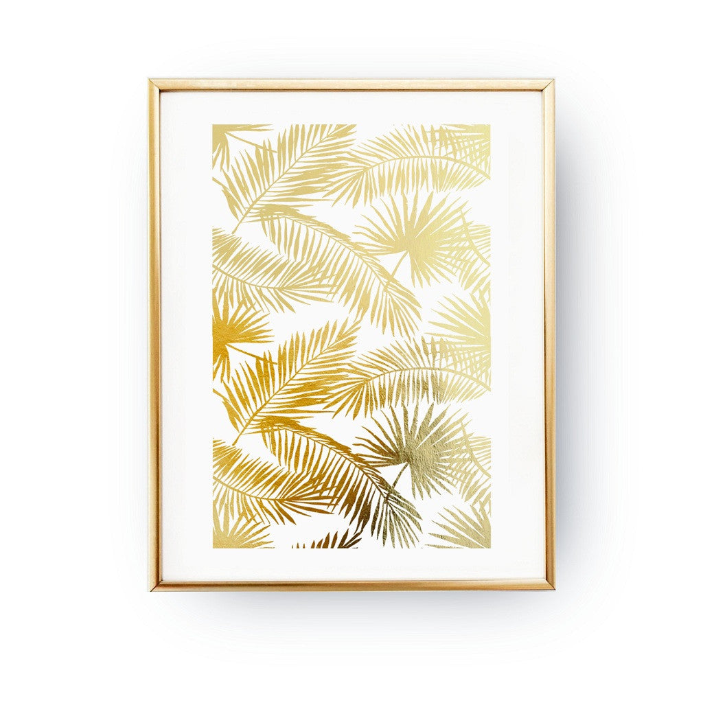 Palm leaves, Poster
