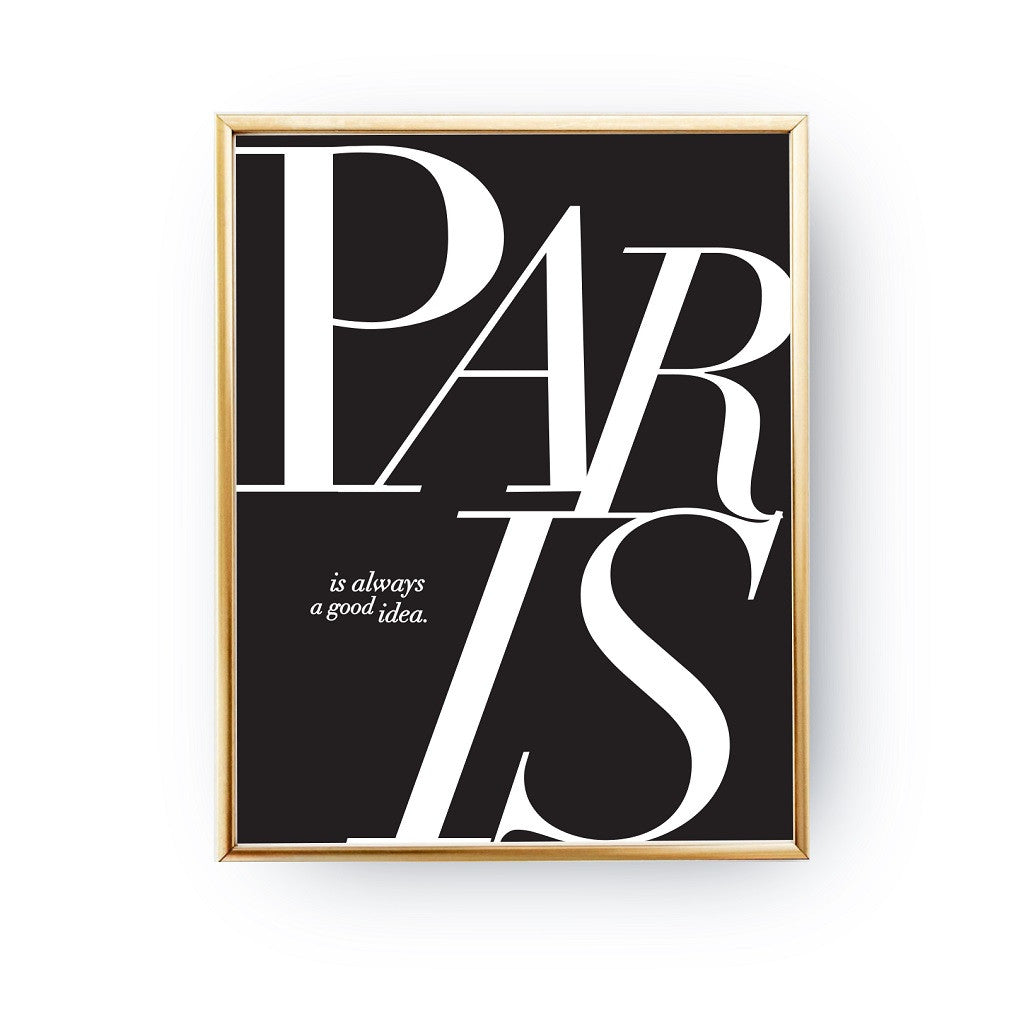 Paris is always a good idea, Poster