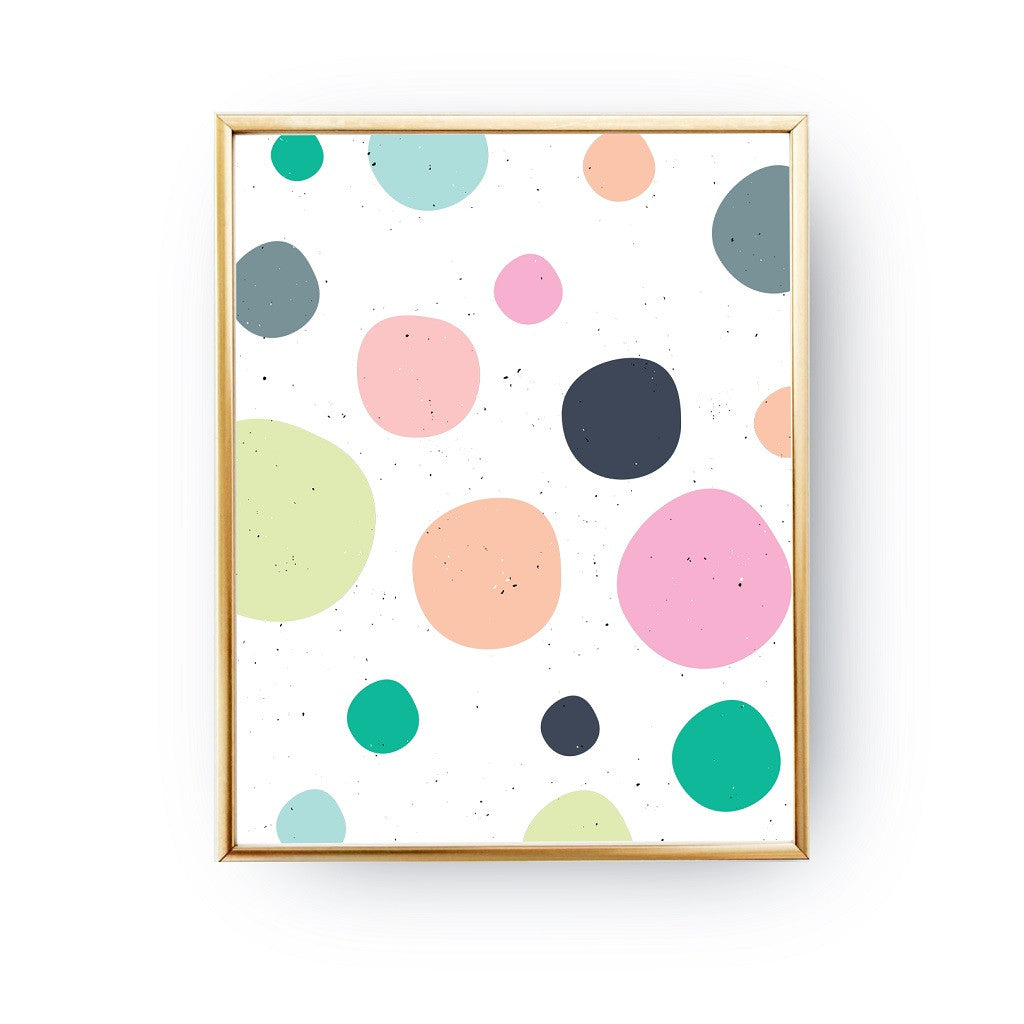 Pastel dots, Poster