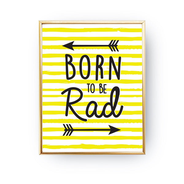 Born to be rad, Poster