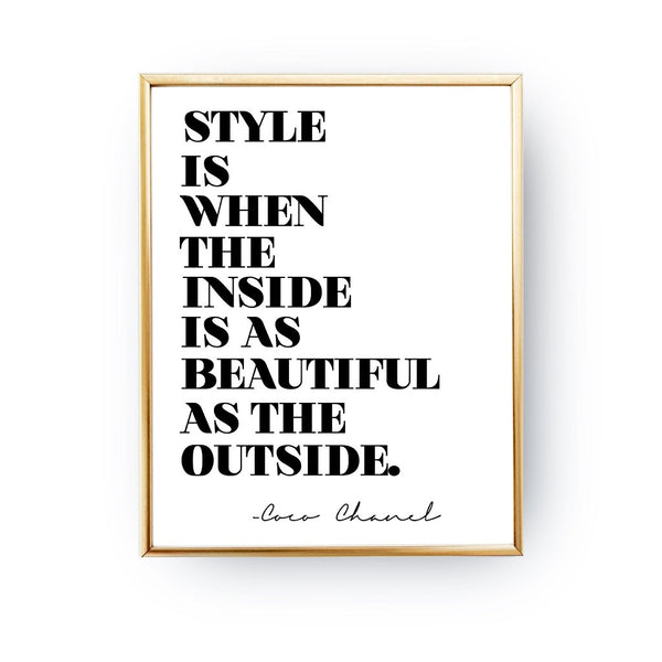 Style Coco Chanel, Poster