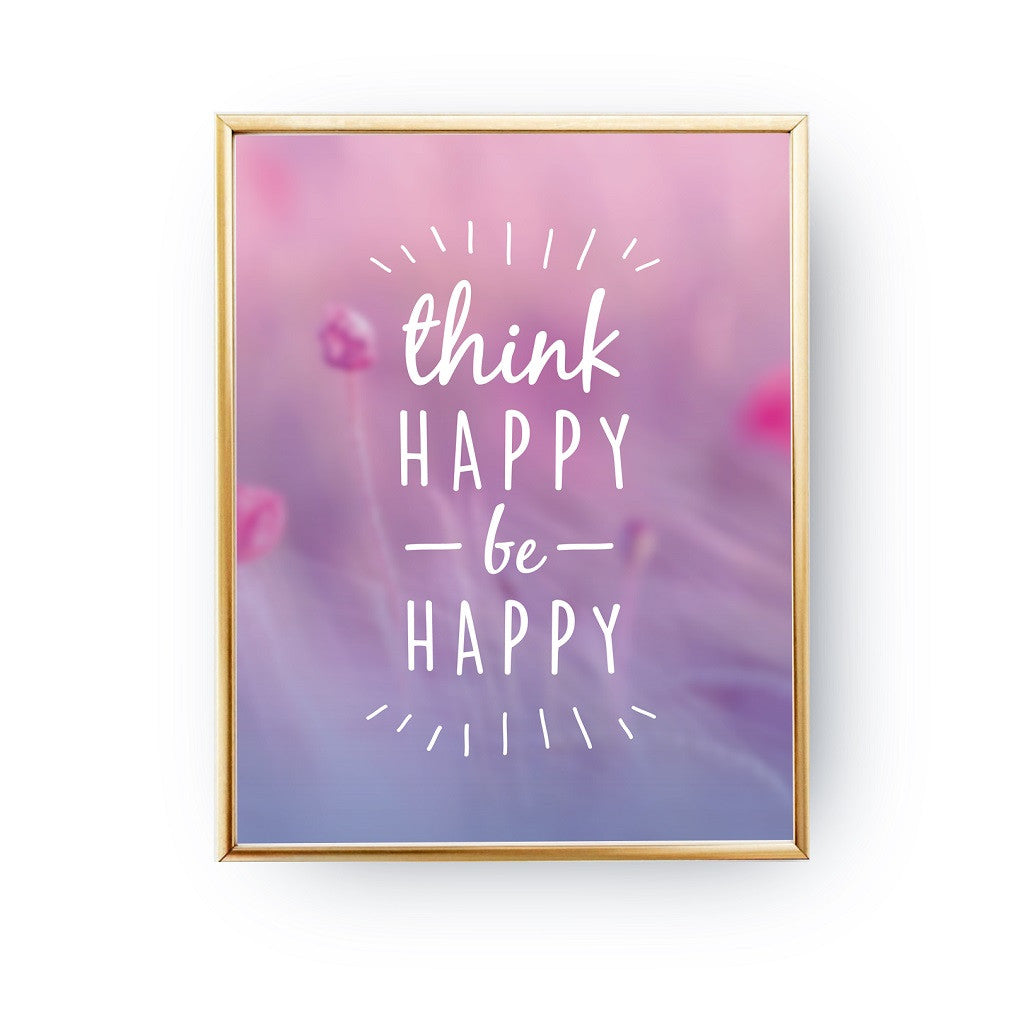 Think happy be happy, Poster