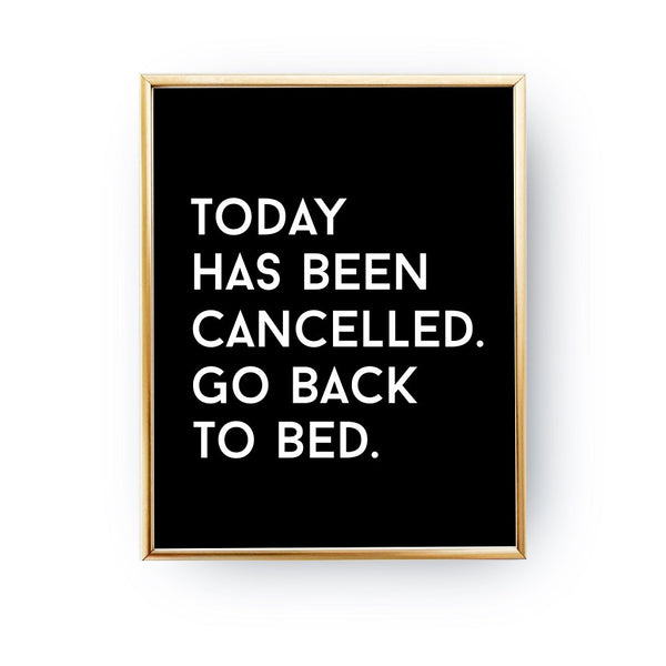 Today has been cancelled, Poster