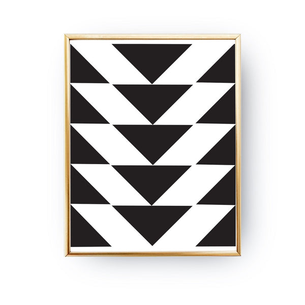 Homelov · triangles black white poster