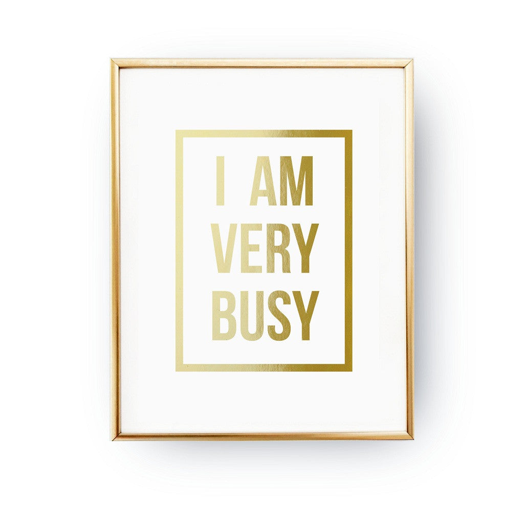 I am very busy, Poster