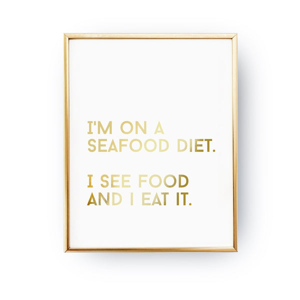 I'm On A Seafood Diet, Poster