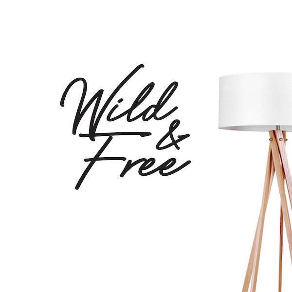 Wild and Free, Wall Decal