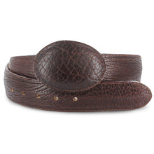 Men's Elephant Print Belt - Bonanza Exotic Belts