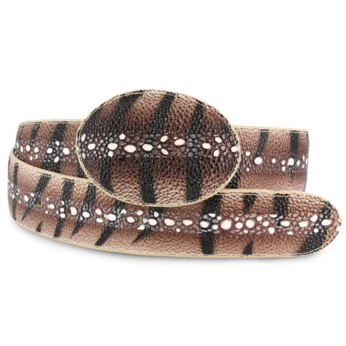 Men's Stingray Print Belt - Bonanza Exotic Belts