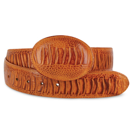 Men's Ostrich Leg Print Belt - Bonanza Exotic Belts