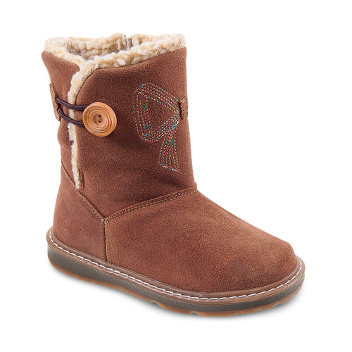 DG-1172 - Camel Nubuck Leather - Dogi® Kids Winter Boots