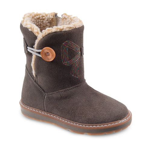 DG-1172 - Grey Nubuck Leather - Dogi® Kids Winter Boots