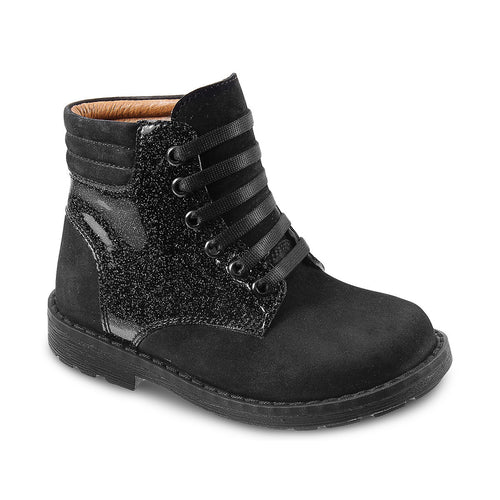 DG-1403 - Black Nubuck Leather - Dogi® Kids Winter Boots