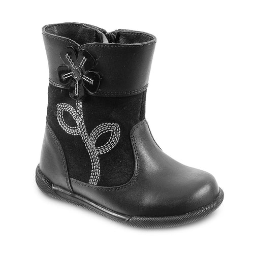 DG-1601 - Black Leather - Dogi® Kids Winter Boots