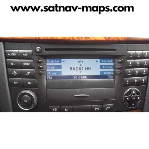 CD Mercedes Benz APS50 Ntg1 17.0 2018 navigation audio Europe A2118270601