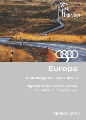DVD MAP AUDI RNS-E 8P0 060 884 CS NAVIGATION PLUS EUROPE 2018