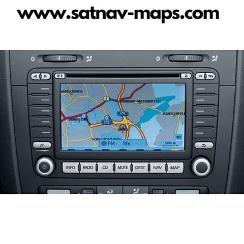 DVD Volkswagen navigation MFD2 RN S2 V16 2018 map update Europe