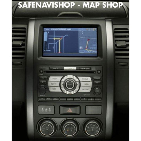 DVD Nissan xanavi 7.0 map navigation Europe sat nav update