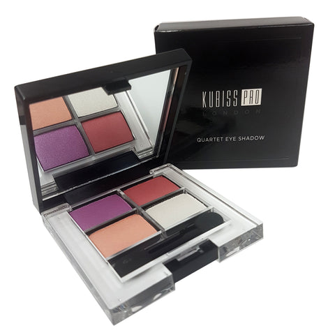 Kubiss Pro London Quartet Eye Shadow No. 2 Sweet Peony