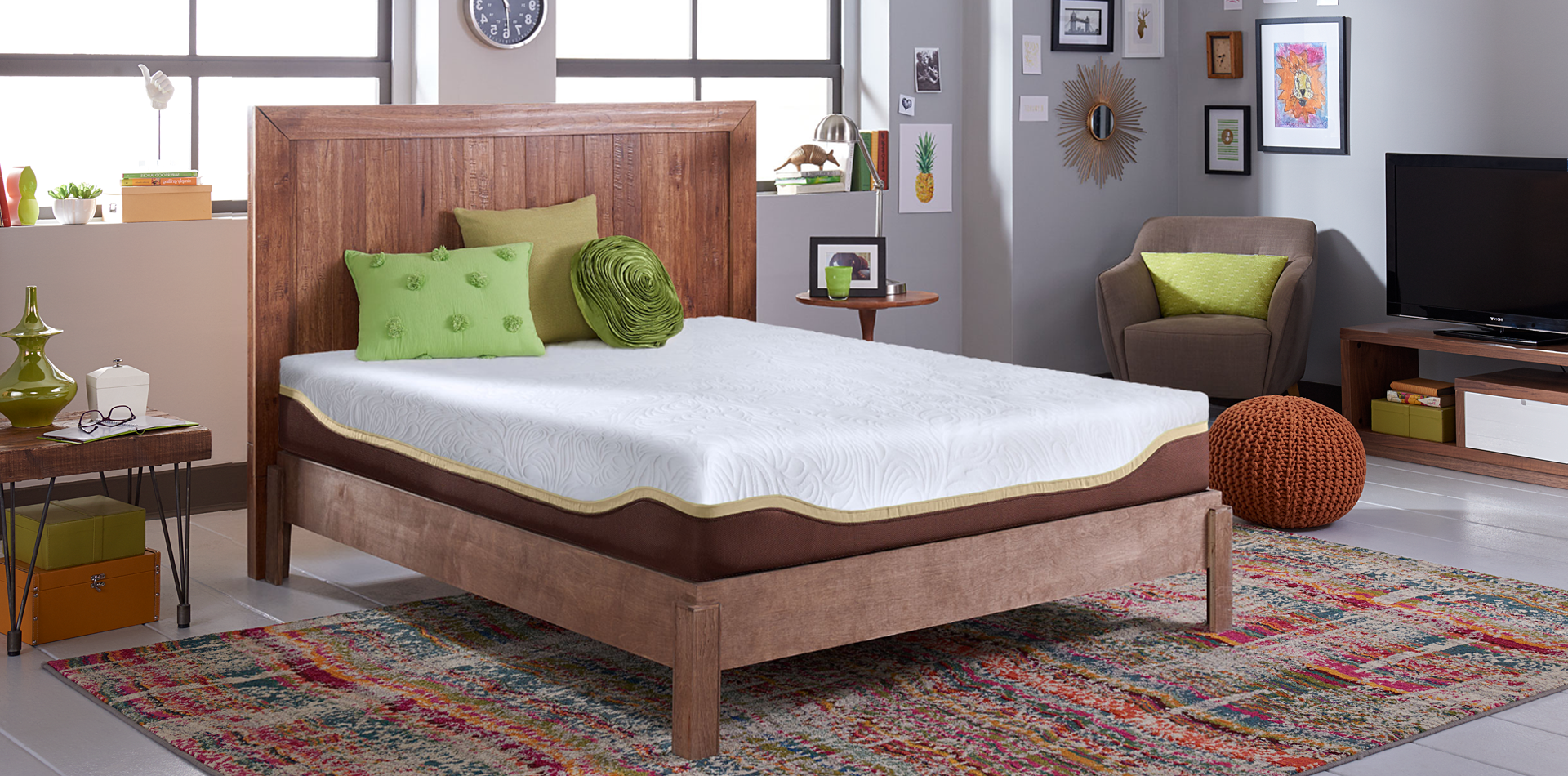 Live and Sleep Elite Cal King Mattress (includes 1 free pillow)