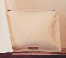 Handmade Ivory Leather Purse