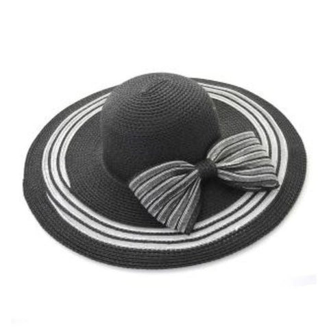 Black Bow Tie Canvas Hat