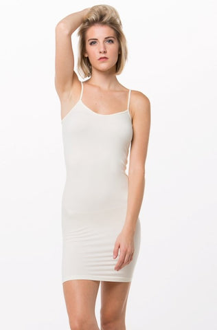 Long Cami Slip Dress Nude
