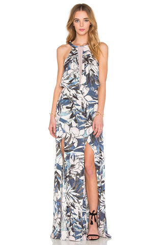 Hawaiian Sunset Maxi Dress
