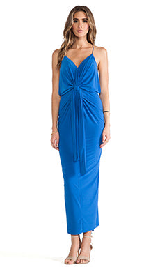 Tie Front Halter Maxi Dress