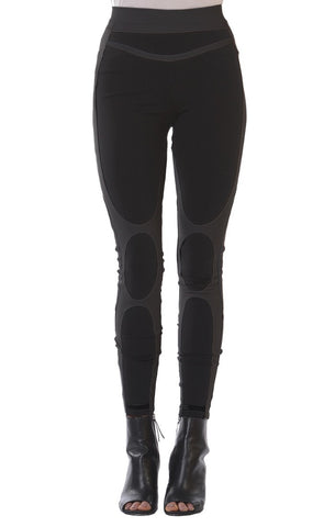 Versailles Charcoal Leggings