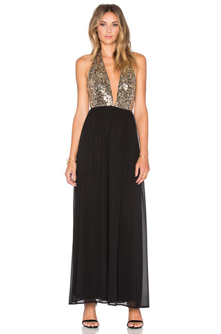 Luna Halter Maxi Dress