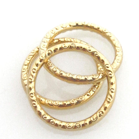 Faceted Gold Midi Rings