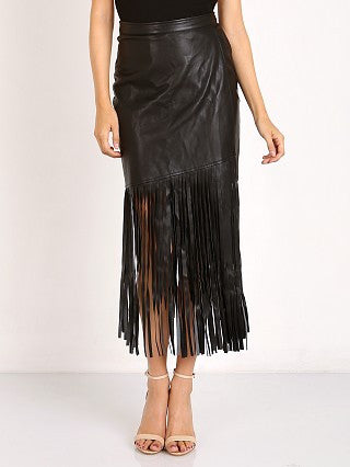 Saloon Leather Fringe Skirt