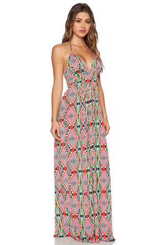 Triangle Halter Maxi Dress