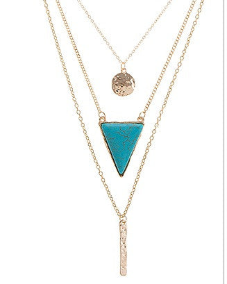 Turquoise Trilace Stone Necklace