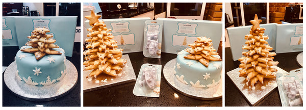 How to make Cheat's Christmas Cake and Cookie Tree Topper Blog