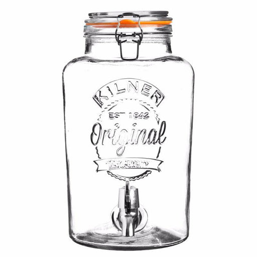 Kilner 8 Litre Round Glass Clip Top Drinks Dispenser