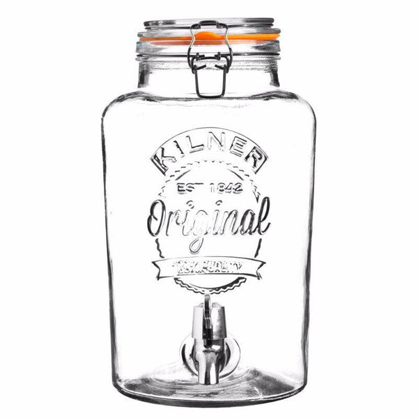 Kilner 8 Litre Clip Top Drinks Dispenser - Clear