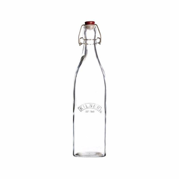 Kilner 550ml Square Glass Clip Top Bottle