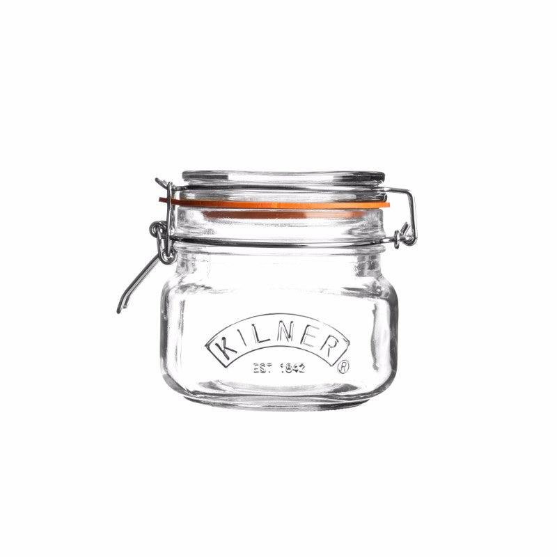 Kilner 500ml Square Glass Clip Top Storage Jar