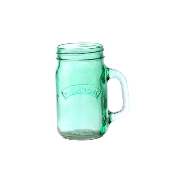 Kilner 400ml Green Glass Handled Jar