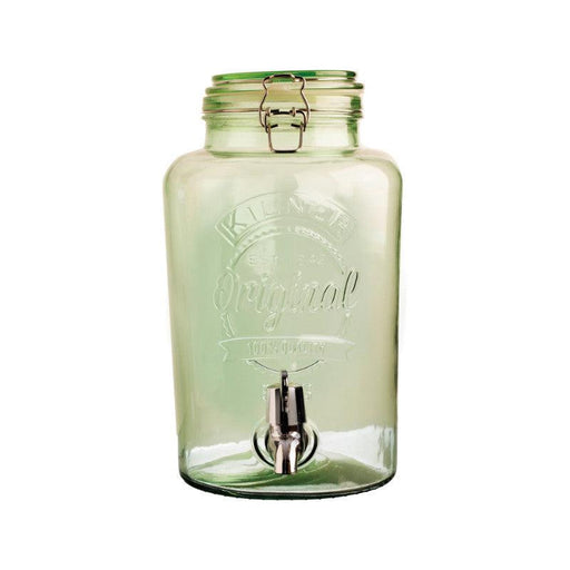 Kilner 5 Litre Green Glass Drinks Dispenser