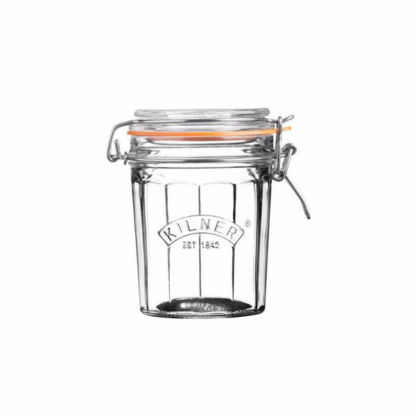 Kilner 450ml Facetted Clip Top Glass Storage Jar