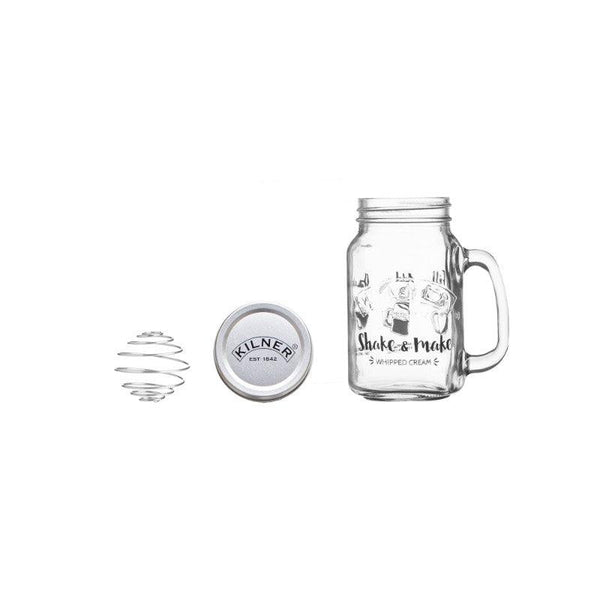 Kilner 540ml Shake & Make Whipped Cream
