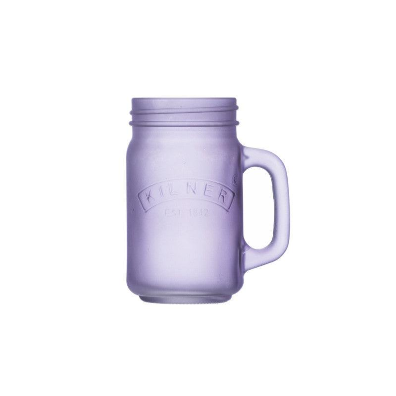 Kilner 400ml Frosted Purple Handled Jar