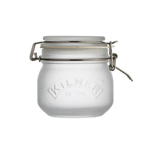 Kilner 500ml Frosted White Clip Top Storage Jar