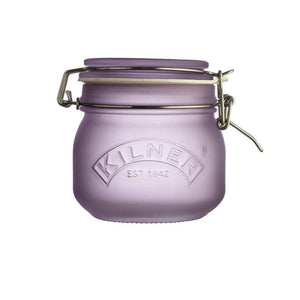 Kilner 500ml Frosted Purple Clip Top Storage Jar