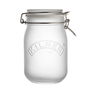 Kilner 1 Litre Frosted White Clip Top Storage Jar